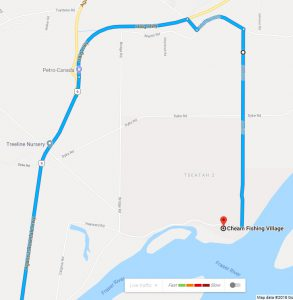DETAILED view from BC-9 N/Haig Hwy
